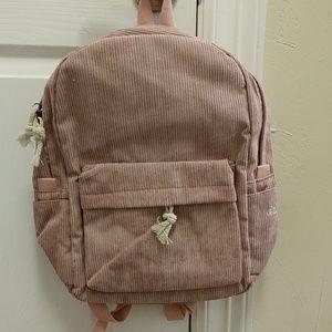 Corduroy pink backpack. NWOT.